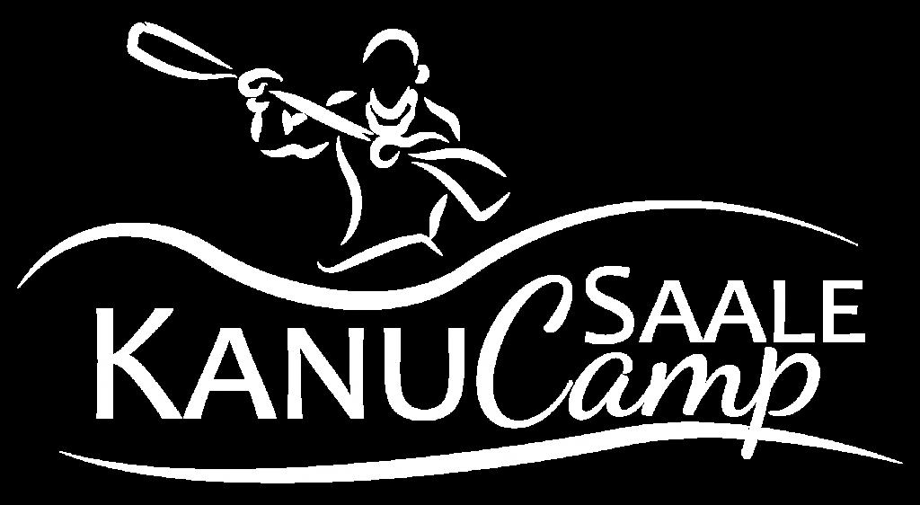 Saale Kanu Camp Logo invertiert